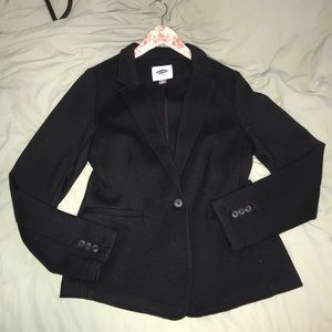 Black Fabric Blazer